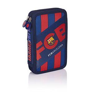 FC Barcelona Barca Fan 5 Pencil Cases, 20 cm, 1.28 liters, Blue (Navy Blue)