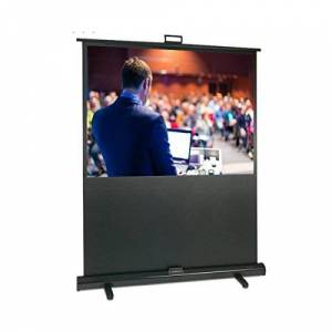 Sapphire SFL200 2 Meter Portable Floor Pull Up Mobile Projection Screen, 4: 3 Grey