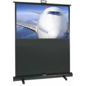 Sapphire SFL162WSFP 1.62 m Portable Floor Pull Up Mobile Projection Screen - Grey
