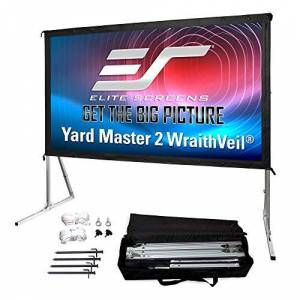 Elitescreens Elite Screens OMS100H2-Dual 100-Inch Front/Rear 4K Ultra HD Ready Indoor/Outdoor Projector Screen - White