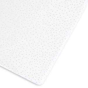 Bd003ch The Little Green Sheep Printed Linen Cot/Bed Sheet, 390 g, 60 x 120-70 x140 cm, White with Dove Rice Print, BD003CH