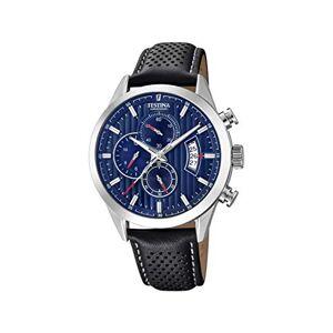 Festina Mens Chronograph Quartz Watch with Leather Strap F20271/7