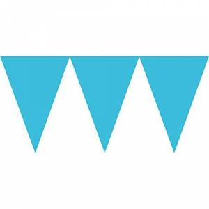 amscan Triangle Flag Caribbean Blue Paper Pennant Party Banner-1 Pc