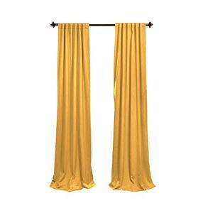 LA Linen Pack-2 Polyester Poplin Backdrop Drape 96 Wide by 58-Inch High, Gold, 243.84 x 147.32 x 0.04 cm