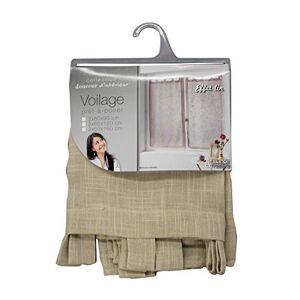 Douceur d'Intrieur Douceur d 'Intrieur Pair Curtain Linen Effect Tisse haltona, Polyester, Hazelnut brown, 90x 60cm