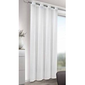 Albani Welcome Home Jake High Quality Grommet Top Panels 245 x 135 cm Semitransparent Voile Trendy Curtain 245 x 135 cm White