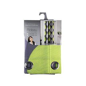 Douceur d'Intrieur Douceur d 'Intrieur Eyelet Curtain - Tempo Print - Polyester, polyester, green, 260x140 cm