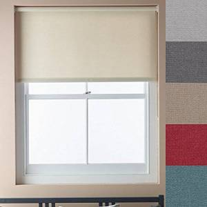 Luxum Made to Measure Roller Blind, 1685mmx2200mm, Atlantic Blue Mist Dimout {5 Colours, 400mm-2200mm Width, and Drop upto 2600mm also available}