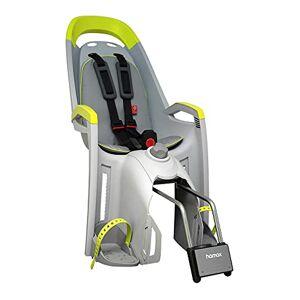 HAMAX Unisex-Youth Amaze Rear Frame Mount Child Bike Seat Childseat, Grey/Lime, One Size