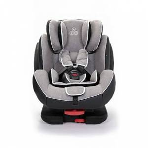 Solar-Light-Grey Ickle Bubba Solar ISOFIX Car Seat Group 1-2-3 from 9kg to 36kg Magnetic Buckle Closure, Top Tether Reclining Car Seat Light Grey