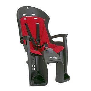 Hamax Unisex-Youth Siesta Pannier Rack Mount Child Bike Seat Rear Childseat, Grey/Red, One Size