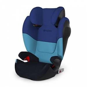 517001369 Cybex Silver Solution M-Fix SL Child's Car Seat, with Reclining Headrest and ISOFIX Compatible, Group 2/3 (15-36 kg), From Approx. 3 to Approx. 12 Years, Blue Moon