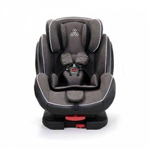 Solar-Dark-Grey Ickle Bubba Solar ISOFIX Car Seat Group 1-2-3 from 9kg to 36kg Magnetic Buckle Closure, Top Tether Reclining Car Seat Dark Grey