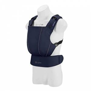 518000101 CYBEX Gold MAIRA.click Ergonomic Baby Carrier, From birth to approx. 2 years (approx. 3.5 - 15 kg), 100% Cotton, Denim Blue