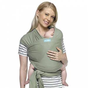 Mcl-Pear MOBY Classic Baby Wrap Carrier for Newborn to Toddler up to 33lbs, Baby Sling from Birth, One Size Fits All, Breathable Stretchy made from 100% Cotton, Unisex