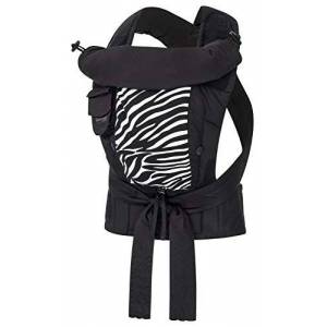 "Bop-Sli-L-P-Sch-Zeb Bondolino Plus Comfort Carrier for Babies incl. Instruction""Slim-fit"", Black-zebre"