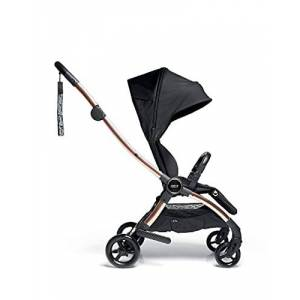 9599u7600 Mamas & Papas Airo Stroller, Buggy, Lightweight, One handed Fold, Compact Storage, Lie-Flat Seat, 7.6 kg - Black/Rose Gold