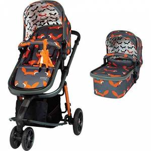 Ct4127 Cosatto Giggle 3 Pram & Pushchair – From Birth to 18kg, Lightweight, Compact, Flat-Fold (Charcoal Mister Fox)