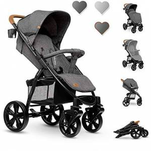 Lo-Annet Stone Caramel Lionelo Annet Pushchair Reclining Pushchair with Brown Handle 11kg
