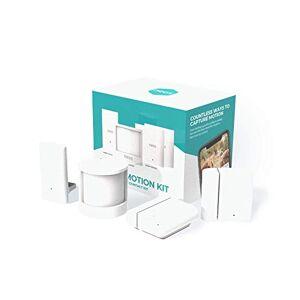 Neos Smart Motion Kit Pack of 4: 2 Contact & 1 Motion (PIR) Sensor + Bridge Smart Home Security Extension kit SmartCam, White