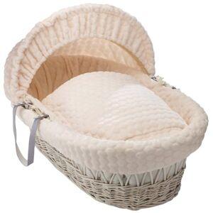 Cl5172wcm Clair de Lune Marshmallow White Wicker Moses Basket inc. bedding, mattress & adjustable hood (Cream)