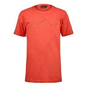 CMP Boys' T-Shirt Slub Jersey 100% Cotone, Flame, 140