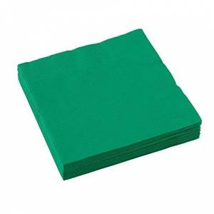 amscan Green 2-Ply Luncheon Napkins Party Pack 33cm-20 Pcs