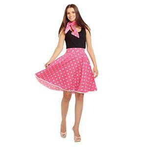 Bristol Novelty AC049A Rock n Roll Skirt, Pink, Size 10-14