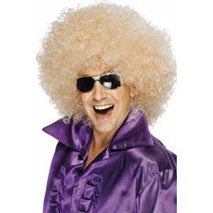 Smiffys Blonde Afro Wig
