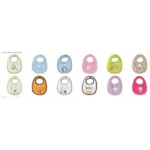 pirulos 28700098 Bibs Pack of 12 °C, 20 x 25 cm, Multi-Coloured
