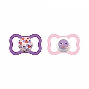 66218822 MAM Air Silicone 218822 Dummies 6-16 Months Pack of 2 for Girls