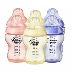 422413 Tommee Tippee Closer to Nature Colour My World, 260 ml/9 floz, Pack of 6