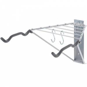Delta Cycle - Pablo Two Bike Rack for Garage, Apartment, Home or Office - Includes Handy Shelf - Holds up to 29.5 kgs