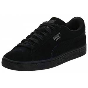 Puma Men's Suede Classic+ Sneakers, Black-Dark Shadow, 10 UK