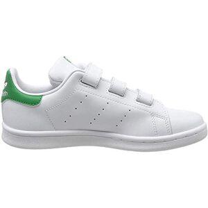 Adidas Originals adidas Unisex Kids' Stan Smith Cf Gymnastics Shoes, White (Ftwr White/Green), 12 UK Child