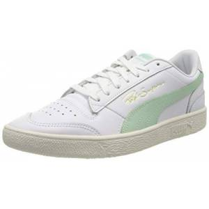 Puma Unisex Adult Ralph Sampson Lo Trainers, Puma White-Mist Green-Whisper White, 10 UK