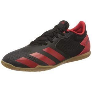 adidas Men's Predator 20.4 in Sala 39s Football Sneakers, Black Core Black Active Red Core Black, 10 UK