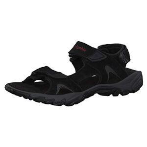 Columbia Men's Santiam 3 Strap Sandals, Black (Black, Mountain Red 010), 11 UK