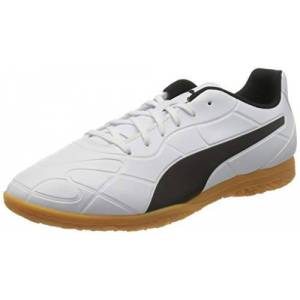 Puma Men's Monarch IT Football Shoe, White Black-Gum, 10 UK