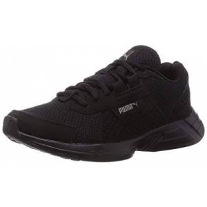 Puma Unisex Adult Space Runner Alt Road Running Shoe, Puma Black-Ultra Gray, 10 UK
