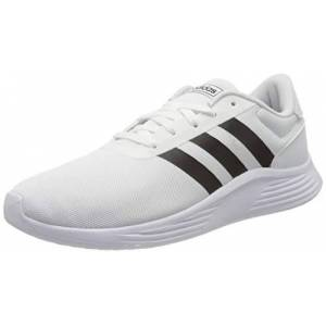adidas Men's Lite Racer 2.0 Running Shoe, FTWR White/Core Black/FTWR White, 10 UK