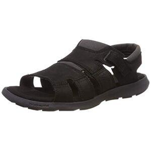 Columbia Men's Salerno' Hiking Sandals, Black (Black, Bright Copper 010), 15 UK 49 EU