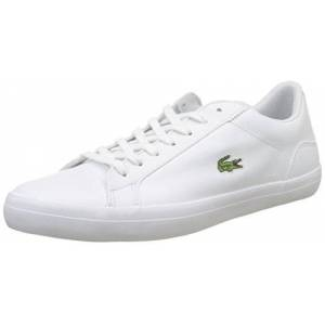 Lacoste Men's Lerond BL 1 Leather Lace Up Trainer White