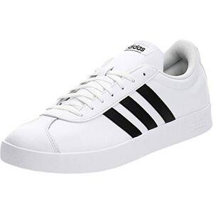 adidas Men's Vl Court 2.0 Skateboarding Shoes, White (FTWR White/Core Black/Core Black FTWR White/Core Black/Core Black), 10 UK