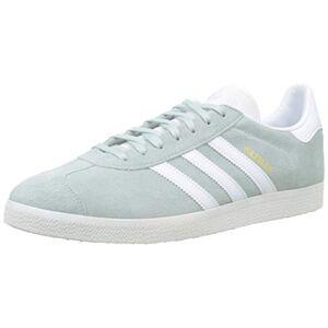 adidas Men's Gazelle Gymnastics Shoes, Green (Vapour Green/FTWR White/Crystal White Vapour Green/FTWR White/Crystal White), 10 UK