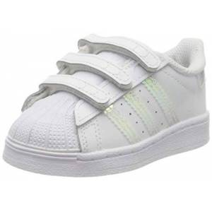 adidas Unisex_Child Superstar CF I Sneaker, FTWR White FTWR White FTWR White, 2 UK