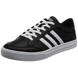 adidas Men's VS Set Low-Top Sneakers, Black (Core Black/Footwear White/Footwear White 0), 9.5 UK 44 EU