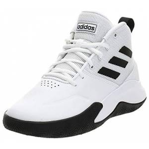 adidas Men's Ownthegame Sport shoes, White Black, 10 UK