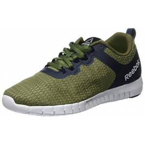 Reebok Men's Zquick Lite Running Shoes, Green Canopy Green Poplar Green Coll Navy White, 7 UK