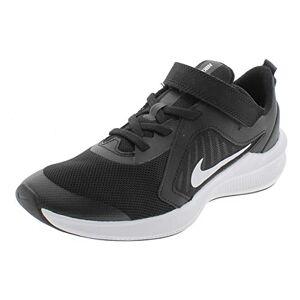 Nike Unisex Kid's Downshifter 10 (PSV) Running Shoe, Black Grey White, 1 UK
